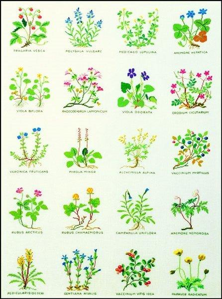 Blomster - ophæng med broderi