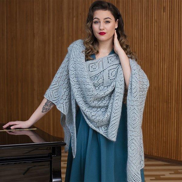 Dina - stort smukt sjal